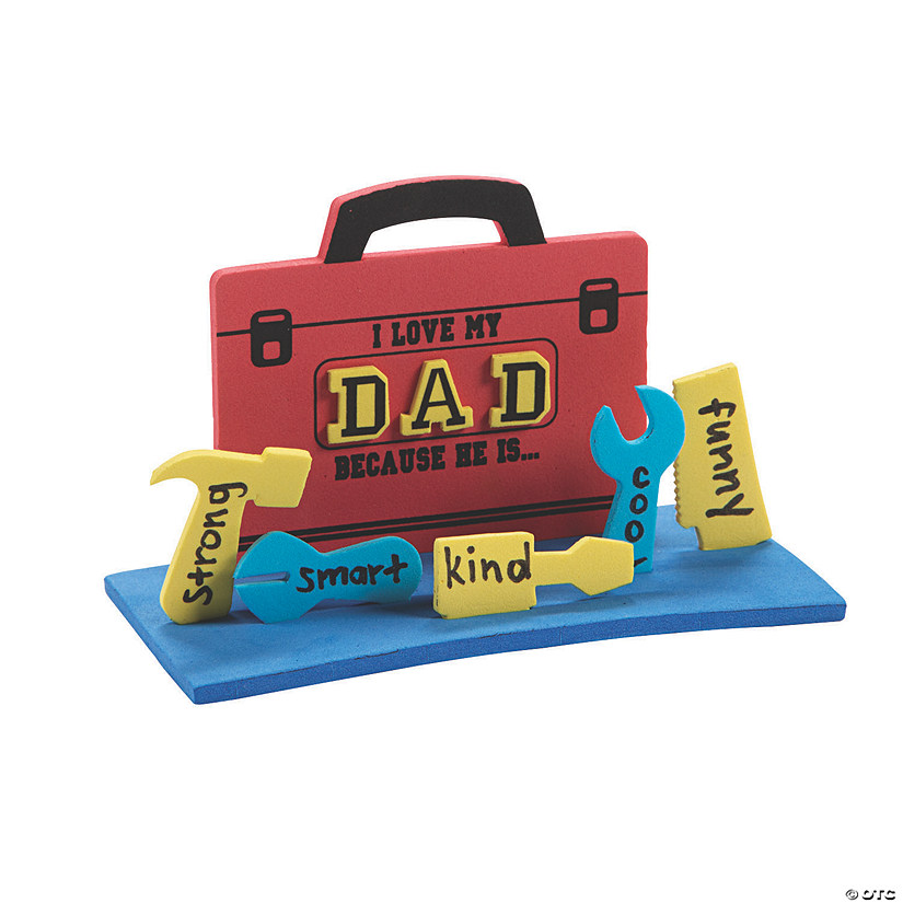 3D I Love My Dad Because Toolbox Craft Kit Audio Thumbnail