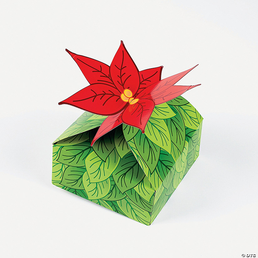 3D Poinsettia Gift Boxes - Discontinued