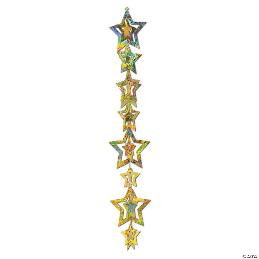 3D Prismatic Gold Hanging Star Strings Audio Thumbnail
