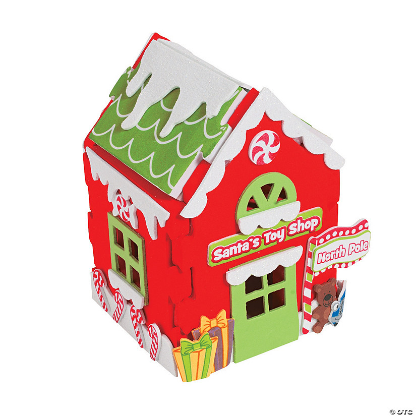 3d santas toy shop christmas craft kit