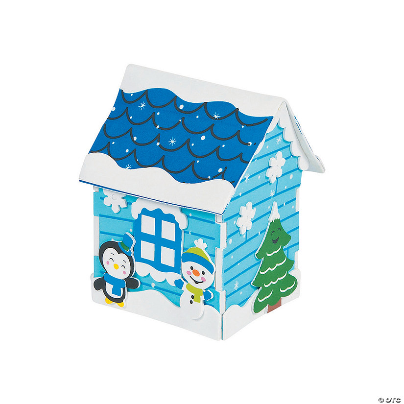 3D Snowman House Craft Kit