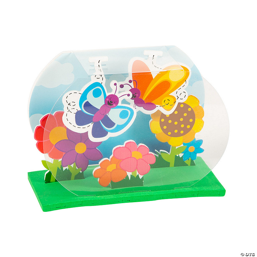 3D Spring Flower Bed & Butterflies Craft Kit Image Thumbnail