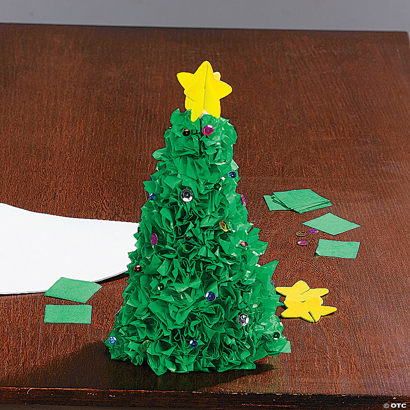 3d Tissue Paper Christmas Tree Craft Kit Discontinued