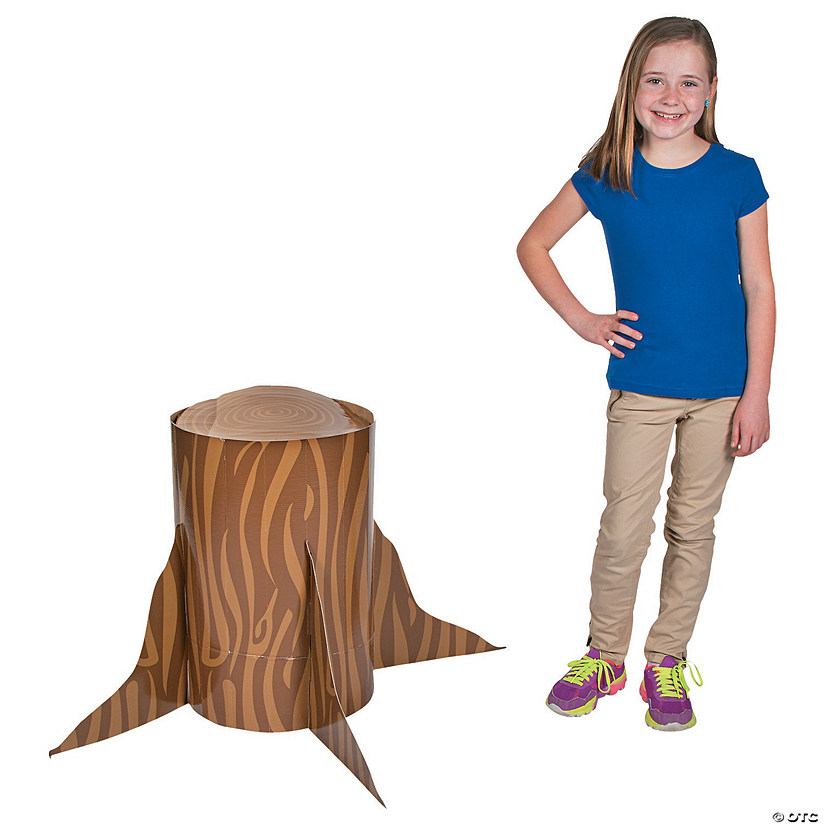 3D Tree Stump Cardboard Stand-Up