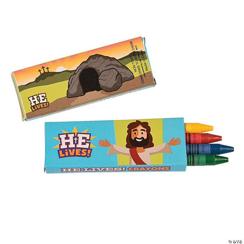 4-Color He Lives Easter Crayons - 24 Boxes Audio Thumbnail