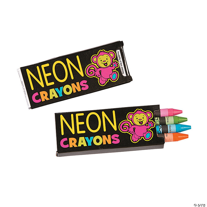 4-Color Neon Crayons - 24 Boxes Audio Thumbnail