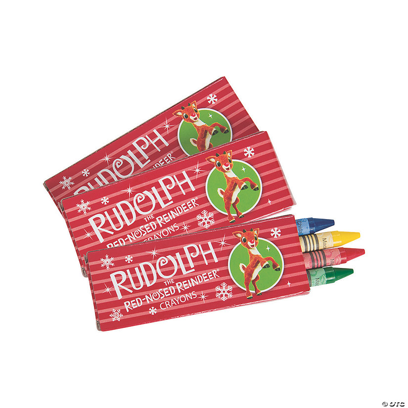 4-Color Rudolph the Red-Nosed Reindeer<sup>&#174;</sup> Crayons - 24 Boxes Image Thumbnail