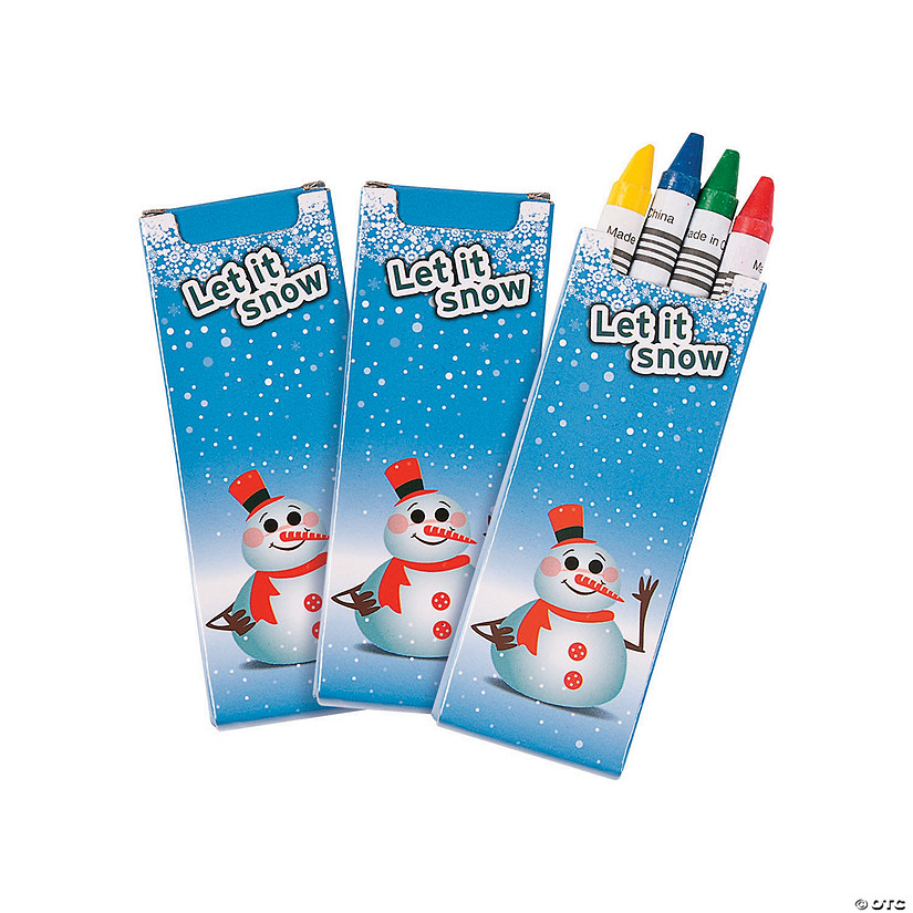 4-Color Winter Crayons - 24 Boxes Image Thumbnail