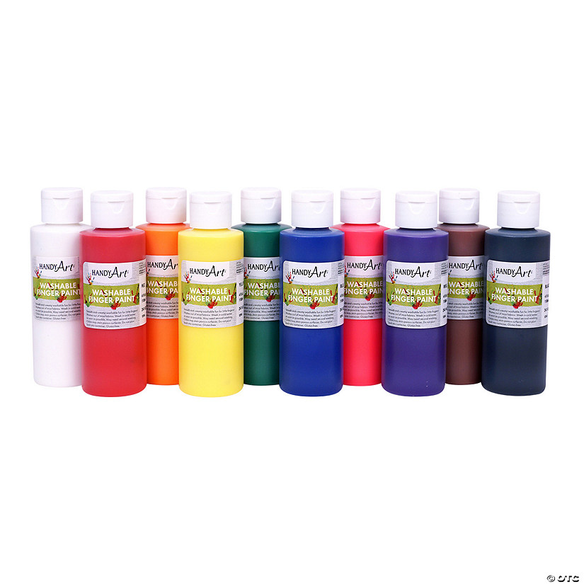 4-oz. Washable Assorted Colors Finger Paint - Set of 10 Audio Thumbnail