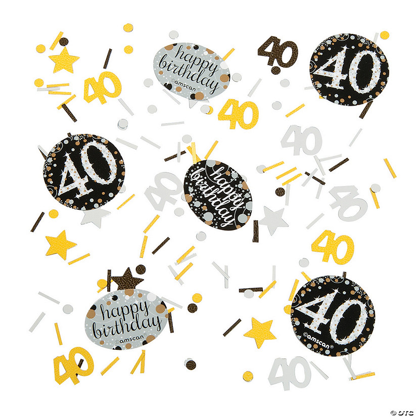 40th Birthday Sparkling Celebration Confetti