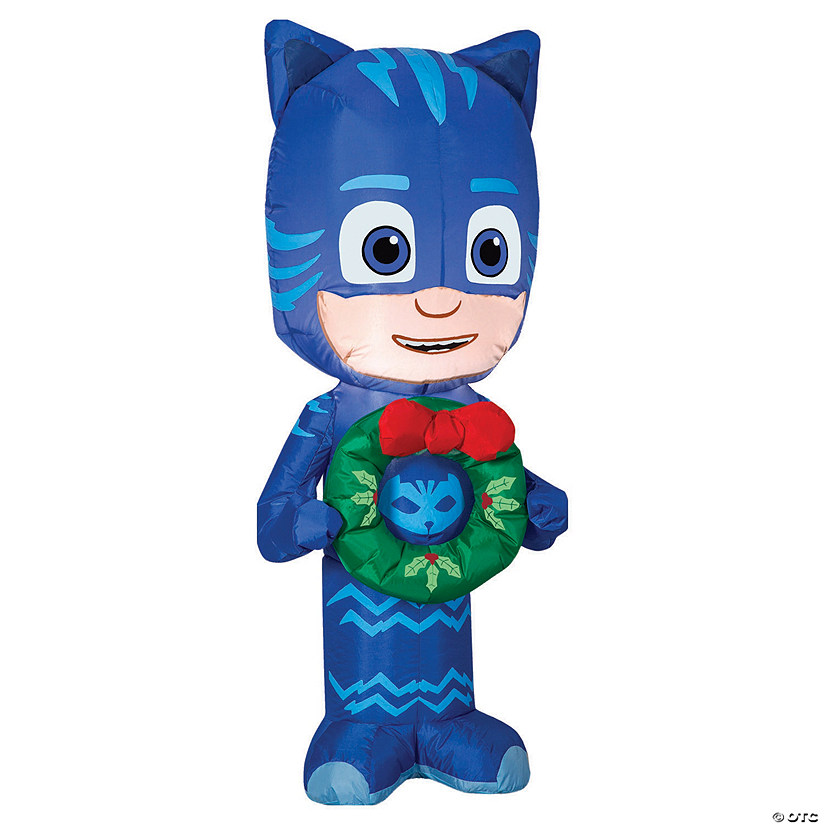 "42"" Blow Up Inflatable Catboy with Wreath Audio Thumbnail"