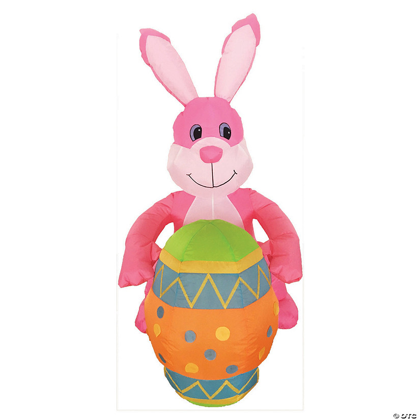 "48"" Blow Up Inflatable Easter Bunny with Egg Audio Thumbnail"