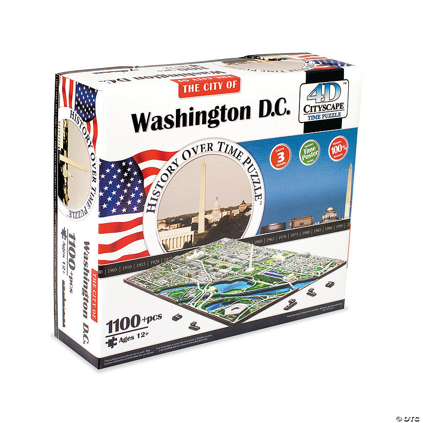 4D Cityscape Time Puzzle: Washington D.C.