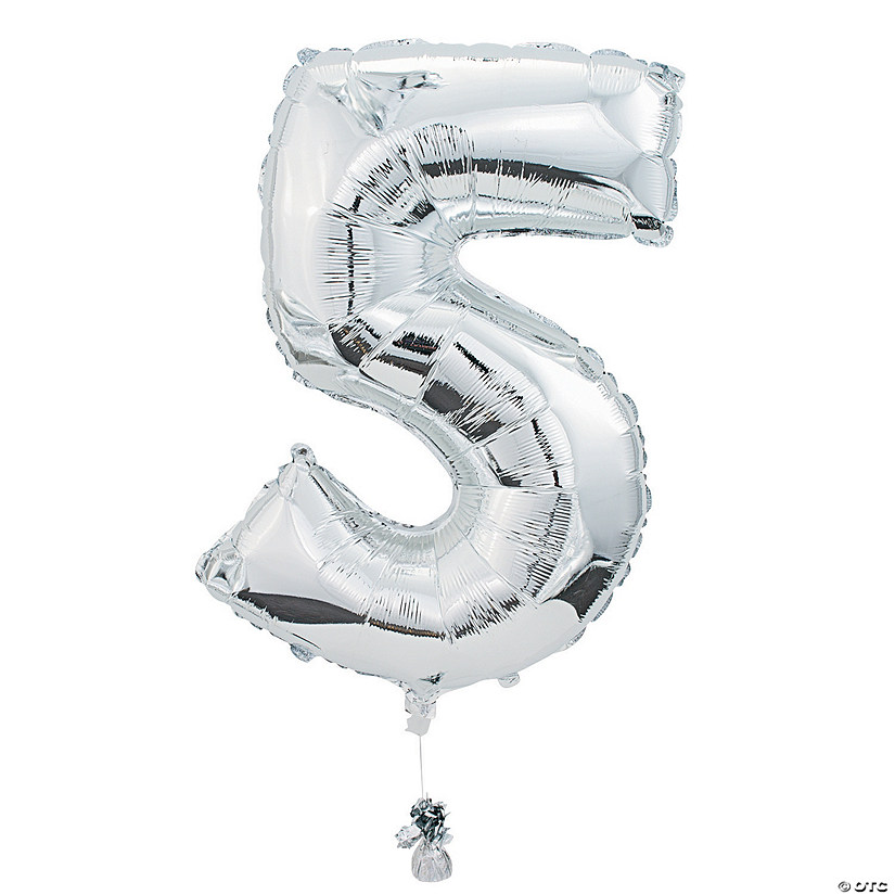 "5 Shaped Number 34"" Mylar Balloon Audio Thumbnail"