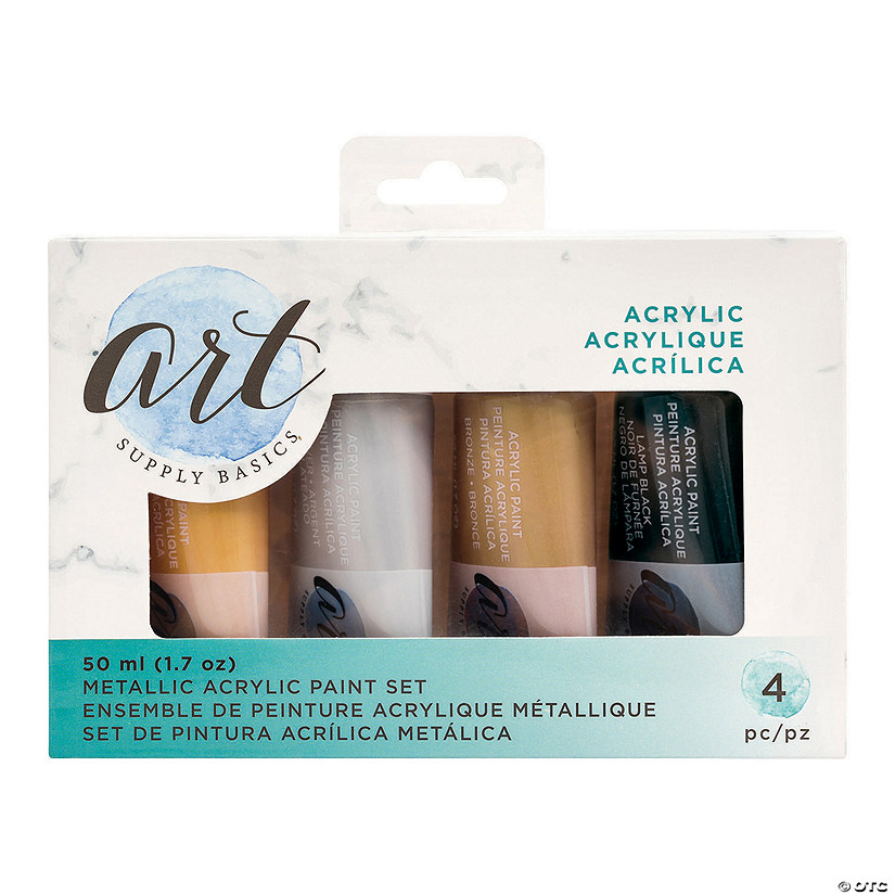 50 ml American Crafts<sup>&#8482;</sup> Metallic Acrylic Paint - Set of 4 Audio Thumbnail