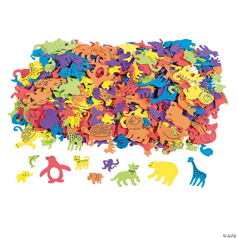 500 Fabulous Foam Self-Adhesive Animal Shapes Audio Thumbnail