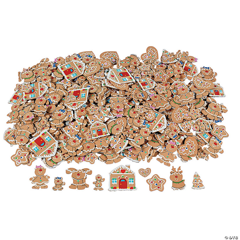 500 Fabulous Foam Self-Adhesive Gingerbread Shapes Audio Thumbnail