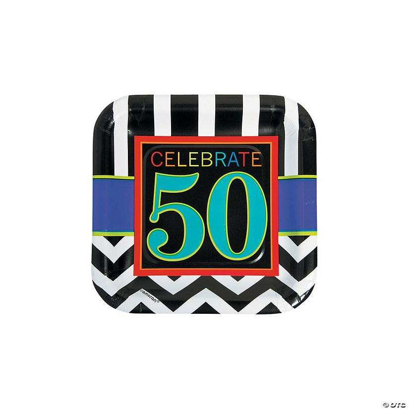 50th Birthday Celebration Paper Dessert Plates Audio Thumbnail