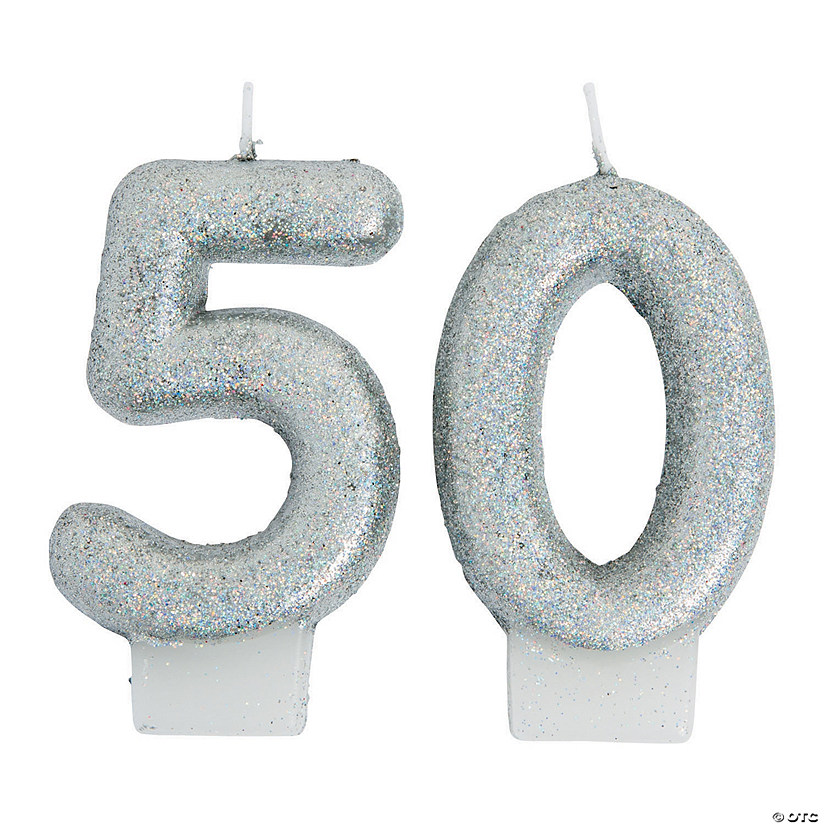 50th Birthday Sparking Celebration Candle13773862