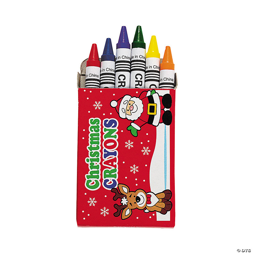 6-Color Holiday Crayons - 24 Boxes