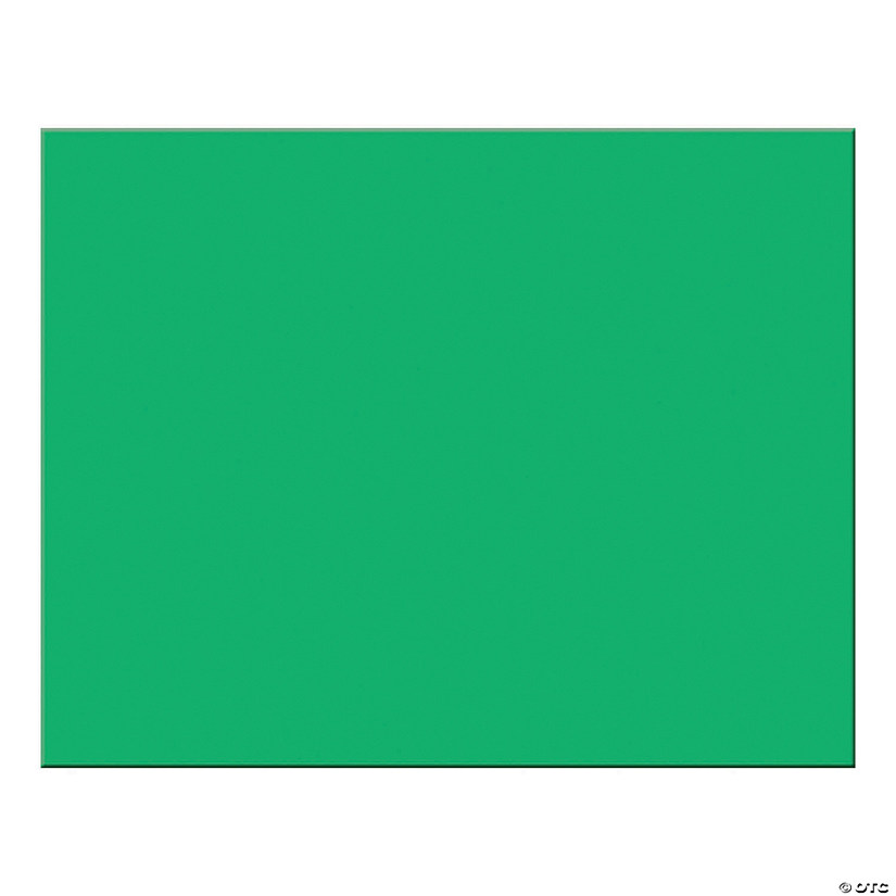 "6-Ply Railroad Board, Holiday Green, 22"" x 28"", 25 Sheets"