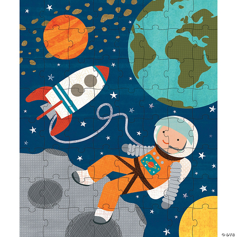 64-Piece Tin Canister Puzzle: Into Space