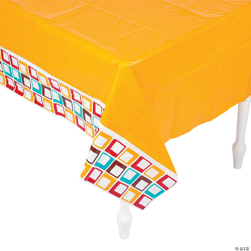 70s Party Plastic Tablecloth