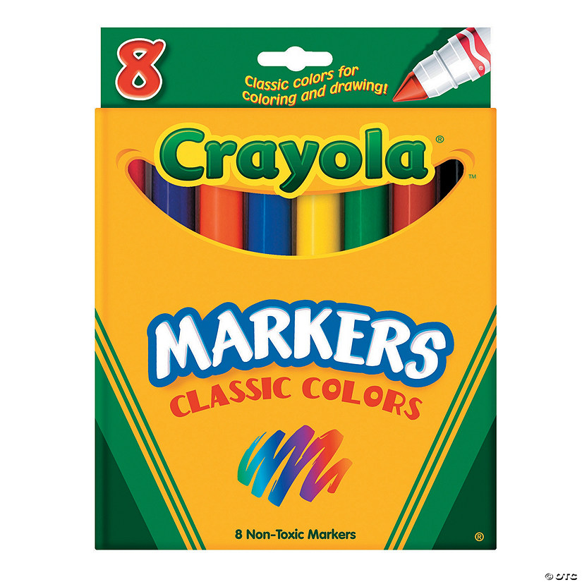 8-Color Classic Colors Crayola® Cone Tip Markers Audio Thumbnail