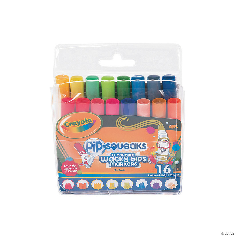 8-Color Crayola® Pip-Squeaks™ Wacky Tips™ Washable Markers Audio Thumbnail