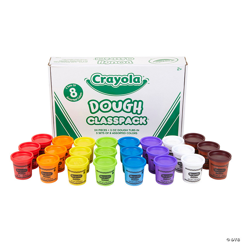 8-Color Crayola<sup>&#174;</sup> Dough Tubs Classpack<sup>&#174; </sup>- 24 Pc. Image Thumbnail