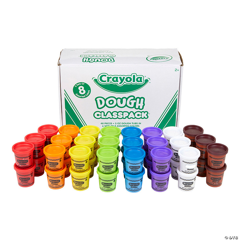 8-Color Crayola<sup>&#174;</sup> Dough Tubs Classpack<sup>&#174; </sup>- 48 Pc. Audio Thumbnail