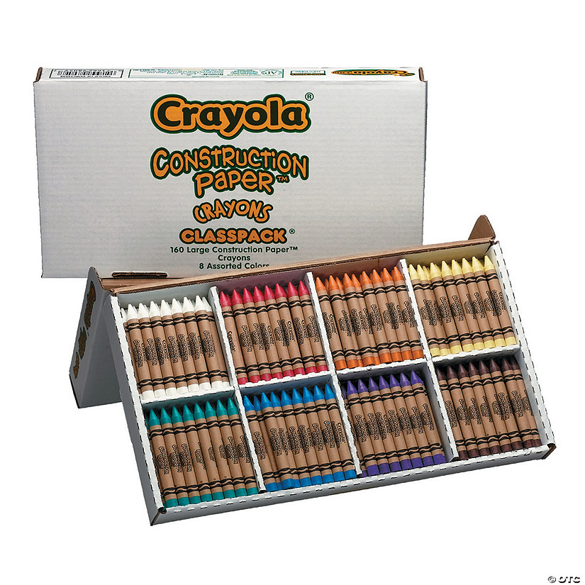 8-Color Crayola<sup>&#174;</sup> Large Construction Paper&#8482; Crayons Classpack - 160  Pc. Image Thumbnail
