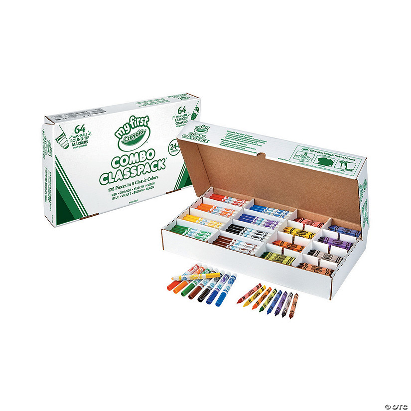 8 Color Crayola<sup>&#174;</sup> My First Crayons & Markers Classpack<sup>&#174;</sup> - 128 Pc. Audio Thumbnail