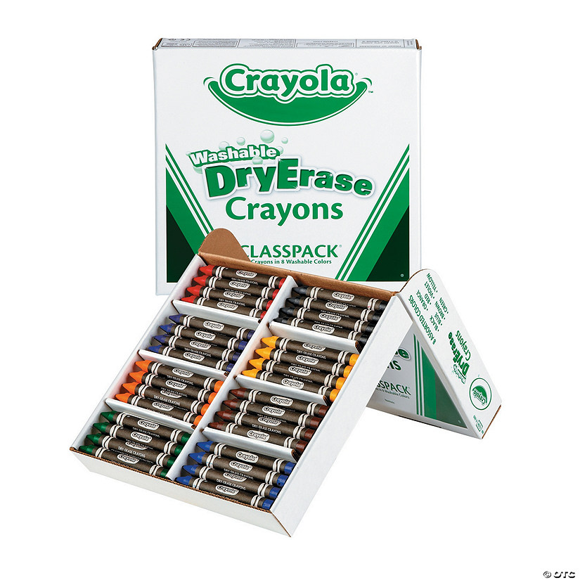 8-Color Crayola<sup>&#174;</sup> Washable Dry Erase Crayons Classpack - 96  Pc. Audio Thumbnail