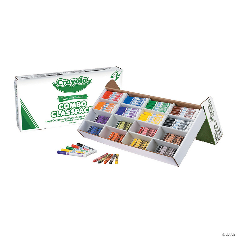 8-Color Crayola<sup>&#174;</sup> Large Crayon & Marker Combo Classpack<sup>&#174;</sup> - 256 Pc. Audio Thumbnail
