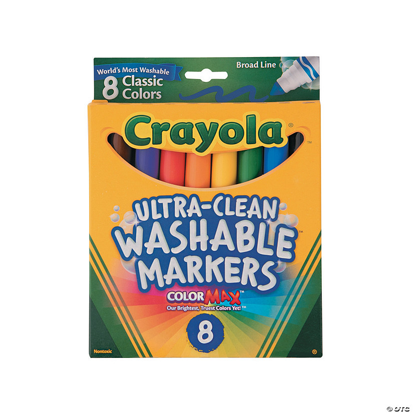 8-Color Crayola® Ultra-Clean Broad Tip Washable Markers Audio Thumbnail