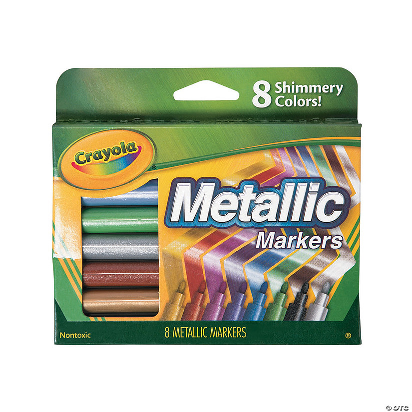8-Color Metallic Crayola® Markers Audio Thumbnail