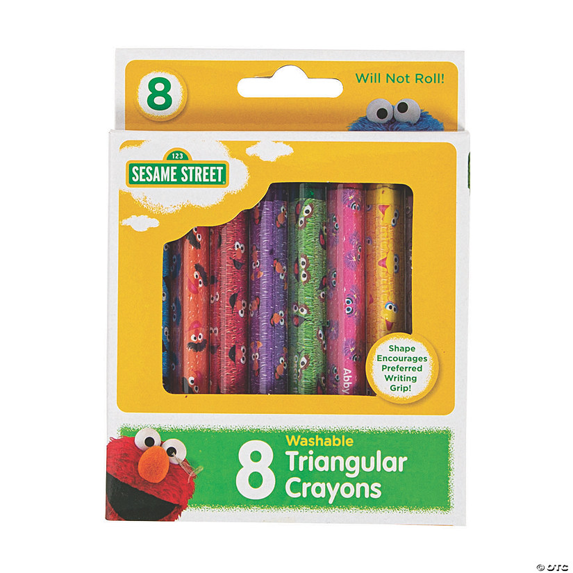 8-Color Sesame Street<sup>&#174;</sup> Washable Triangular Crayons Audio Thumbnail
