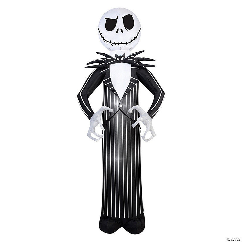 "84"" Blow Up Inflatable Nightmare Before Christmas Jack Skellington Halloween Decoration Audio Thumbnail"