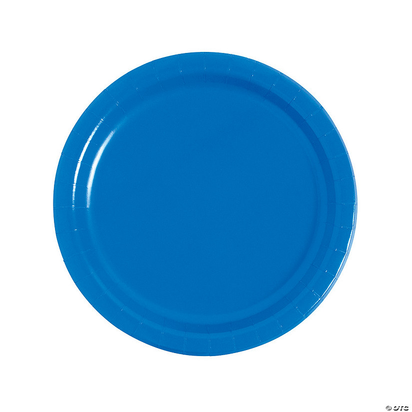 "9"" Cobalt Blue Paper Dinner Plates - 24 Ct. Audio Thumbnail"