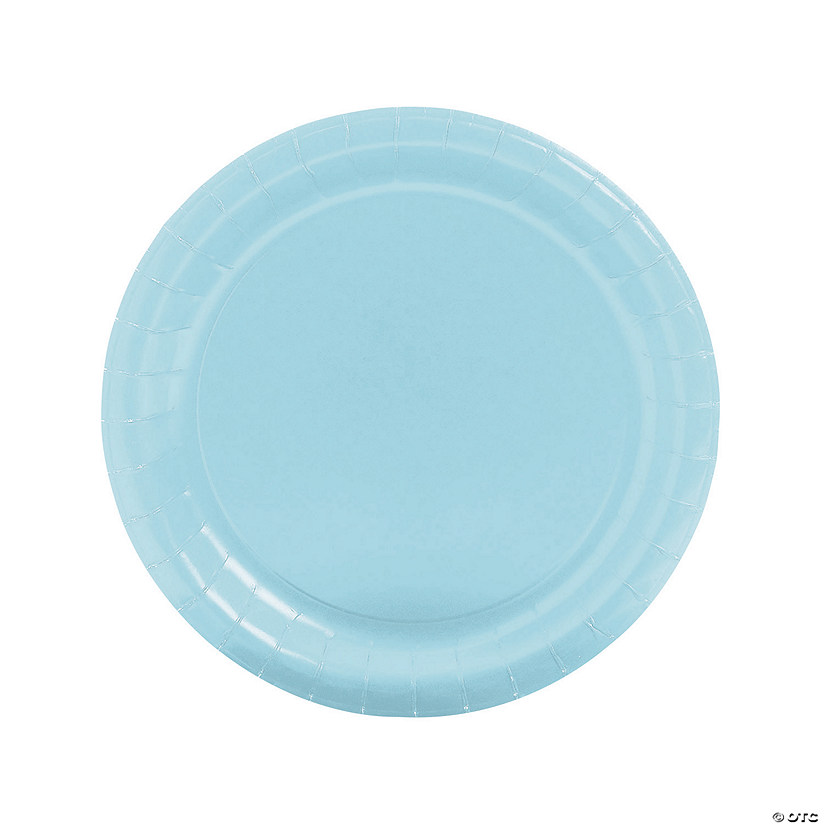 "9"" Light Blue Paper Dinner Plates - 24 Ct. Audio Thumbnail"
