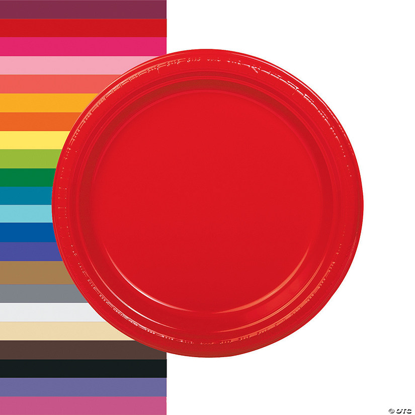 "9"" Plastic Dinner Plates - 20 Ct. Audio Thumbnail"