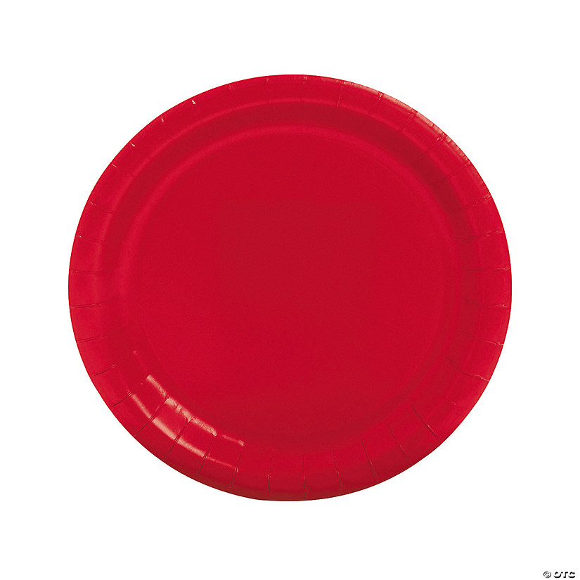"9"" Red Paper Dinner Plates - 24 Ct. Audio Thumbnail"