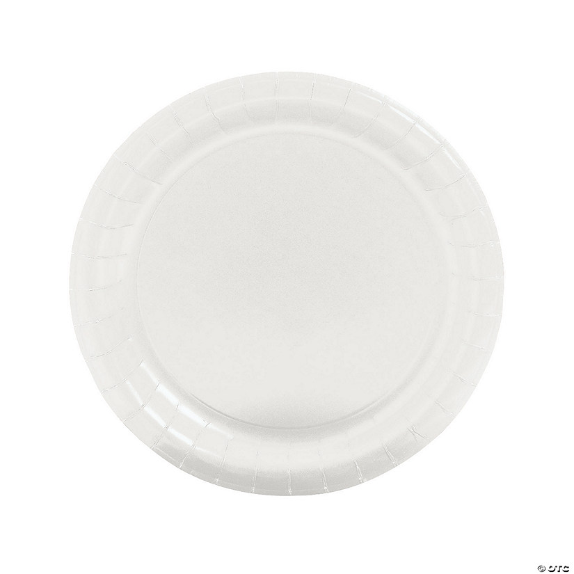 "9"" White Paper Dinner Plates - 24 Ct. Audio Thumbnail"