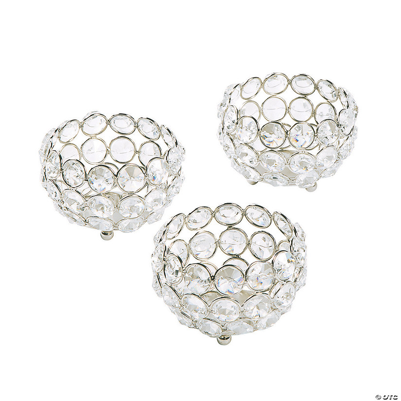 Acrylic Crystal Bead Votive Candle Holders