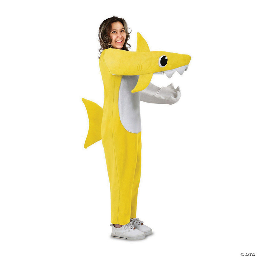 Adult Chompin' Baby Shark Costume w Sound Chip Audio Thumbnail