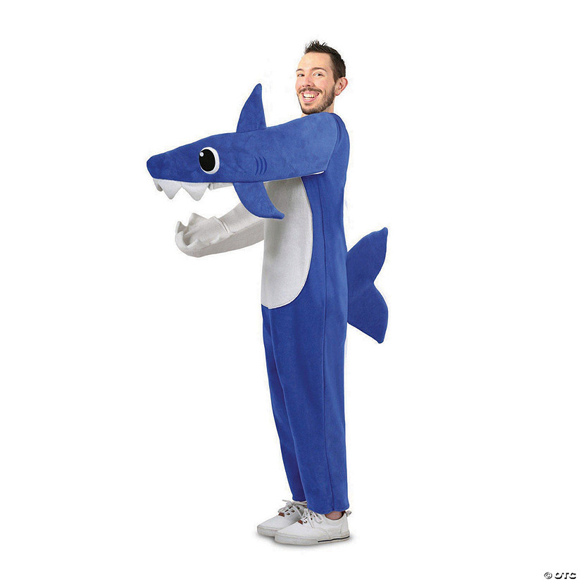 Adult Chompin' Daddy Shark Costume with Sound Chip Audio Thumbnail
