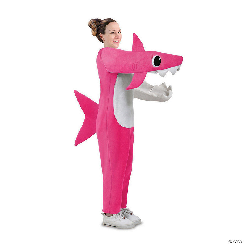 Adult Chompin' Mommy Shark Costume with Sound Chip Audio Thumbnail