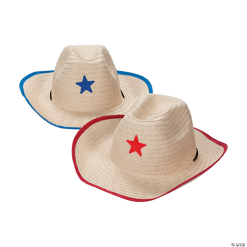 Adult Cowboy Hats with Star Assortment