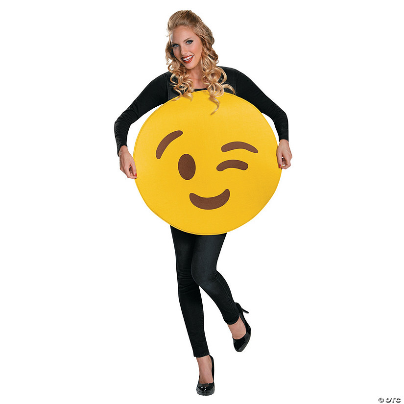 Adult Emoji Wink Costume - Standard Audio Thumbnail
